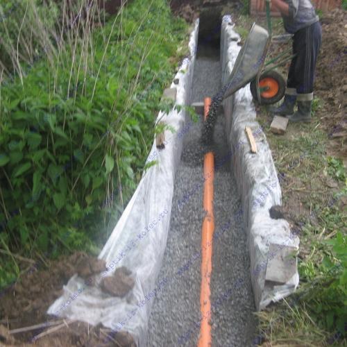 Фильтрующее поле для канализации на даче