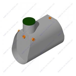 Пластиковый септик ЛАД 1.8