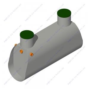 Пластиковый септик ЛАД 2.4 Н