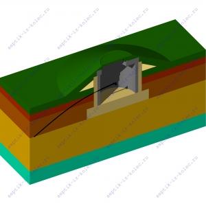 Фильтрующий колодец из бетонных колец надземный ФК-Н 1,5
