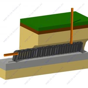 Фильтрующий тоннель под землёй (ФТ 1)