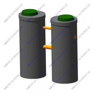 Септик из железобетонных колец Ладомир 1-2.8