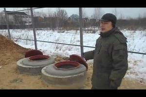 Бетонный септик из колец. Видео-отчёт по строительству...