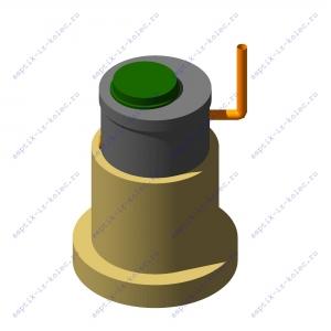 Фильтрующий колодец из 2-ух железобетонных колец ФК 1,0 х 2