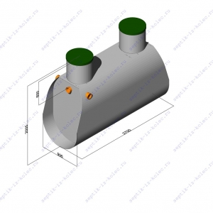Пластиковый септик ЛАД 1.8 Н