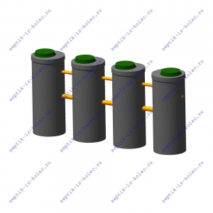 Бетонный септик из колец Ладомир 1-5.6