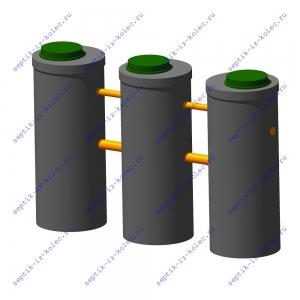 Септик Ладомир 1-4.2 из бетонных колец
